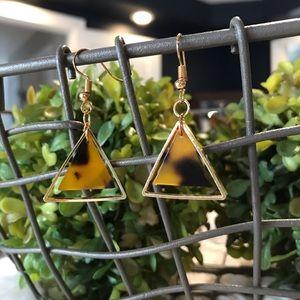 Triangle Tortoise Earrings